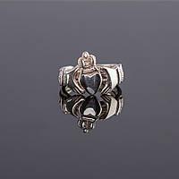 Серебряное кольцо для влюбленных от Wickerring