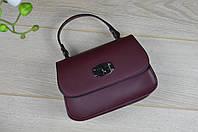Кожаная бордовая сумка-клатч VirginiaConti