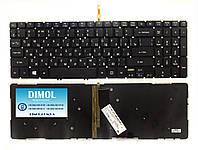 Оригинальная клавиатура для ноутбука Acer Aspire V5-552G, V7-582, series, rus, black, подсветка
