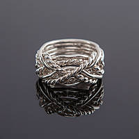 """Удивительное серебряное кольцо головоломка """"Бесконечность"""" от Wickerring"""