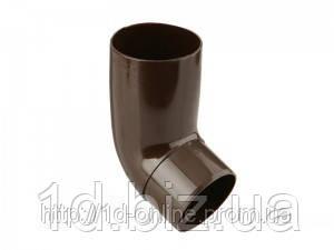 Колено 67 град., водосточной системы Марлей (Marley) СONTINENTAL 75 мм коричневый