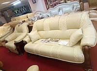 Комплект  Диван +2кресла кожа  пр-во Италия фабрика мягкой мебели  Голландский дом модель 4052.