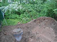 Устройство бетонного септика Киев Установка выгребные ямы Септик из бетонных колец Киев