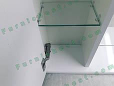 Зеркало для ванной комнаты Аэрография 60-01 левое Серые цветы, фото 3