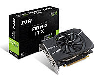 Видеокарта GF GTX 1070 8GB GDDR5 AERO ITX OC MSI (GeForce GTX 1070 AERO ITX 8G OC)