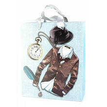 Картонный пакет Одежда подарочный