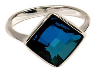 """Кольцо """"Шедар"""" с кристаллами Swarovski, покрытое родием (b832f040)"""