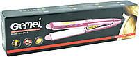 Утюжок для выравнивания волос Gemei GM-2957 с керамическим покрытием. Утюжки на подарок.