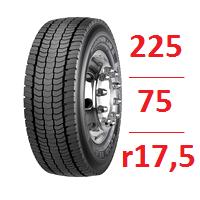 Резина бу 225.75.r17.5