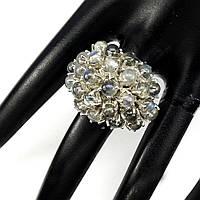 Нарядное кольцо с натуральными лабрадоритами
