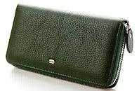 Женский кожаный кошелек клатч на молнии ST Цвет зеленый