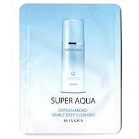Missha Super Aqua Oxygen Micro Visible Deep Cleanser Глубоко очищающая кислородная пенка
