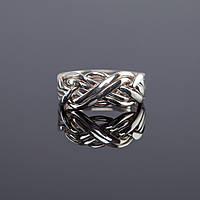 Элегантное мужское серебреное кольцо от Wickerring