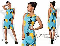 Летнее платье с принтом бананы в расцветках 485 (9169)