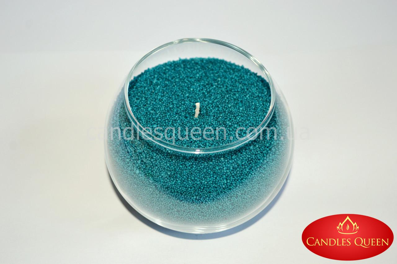 Стеарин цвет сине-зеленый (малахитовый) 500 г. Для насыпных свечей и литых