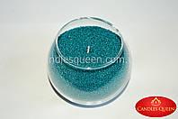 Цветной воск для насыпной свечи цвет: сине-зеленый -  свеча насыпная 500 г