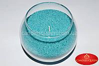 Стеарин цвет бирюзовый 500 г. Для создания насыпных свечей и литых, фото 1
