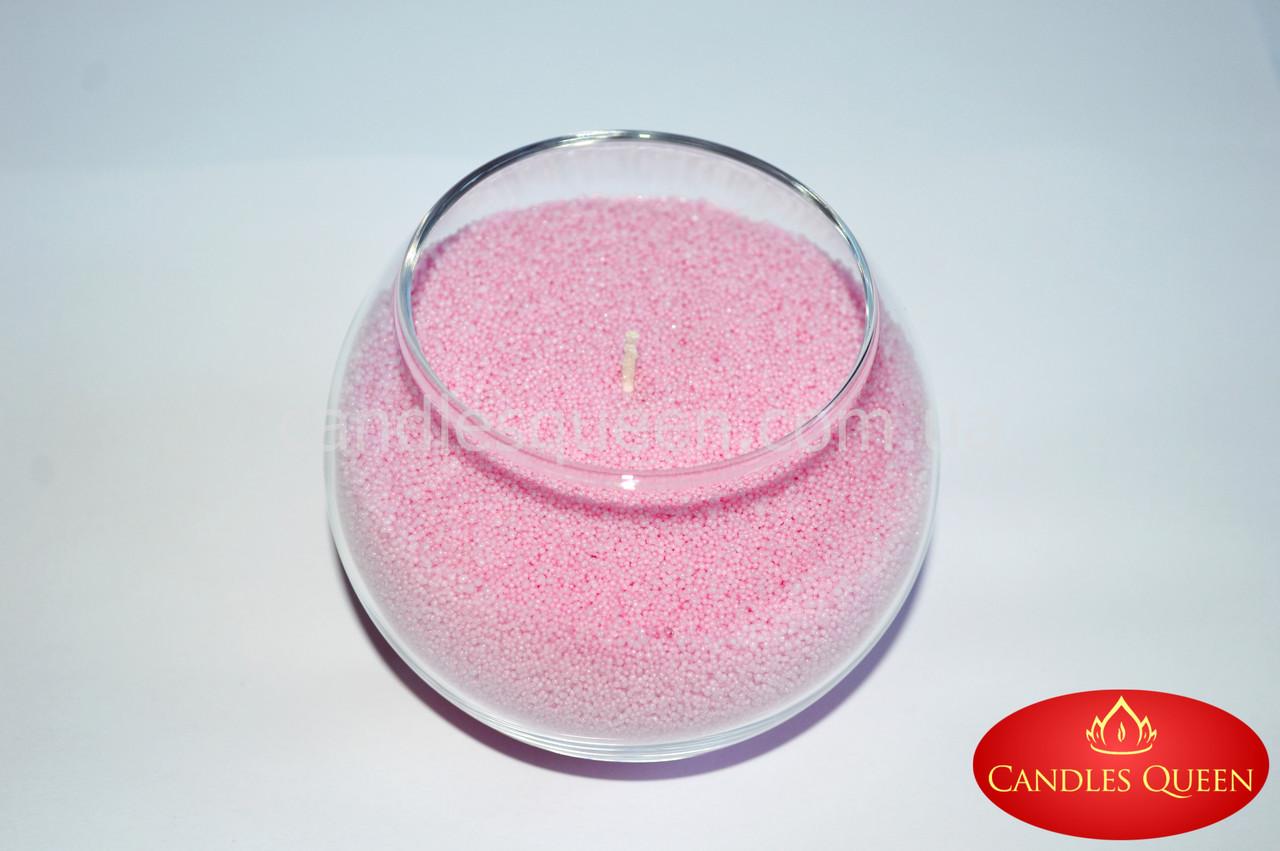 Стеарин светло-розовый 1 кг. Для насыпных свечей и литых