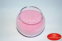 Стеарин светло-розовый 1 кг. Для насыпных свечей и литых, фото 1