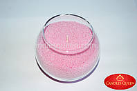 Свеча насыпная 500 г + фитиль.Цвет розовый светлый