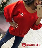 Кофта женская красная Шанель  АА/-1043