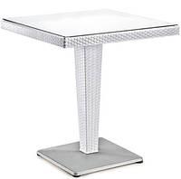 Стол  под ротанг 70×70 на одной ноге