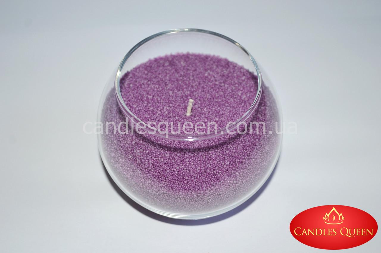 Насыпная свеча цвет: сиреневый 500 г+ фитиль