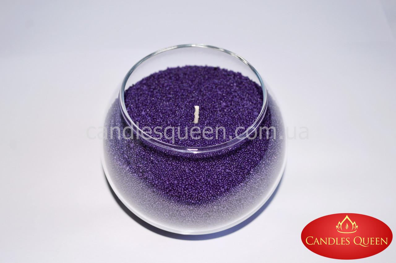Стеарин фиолетовый 500 г. Для создания насыпных свечей и литых