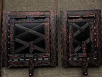Дверца печная металлическая раздельние 400x200