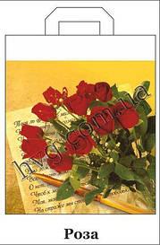 Пакет с петлевой ручкой 42см 50см Розы ХВГ (25 шт)