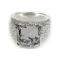 "Кольцо ""Алудра"" с кристаллами Swarovski, покрытое родием (b833f000)"