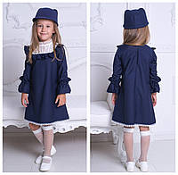 Стильное платья в английском стиле, подойдет и в школу №Ев912