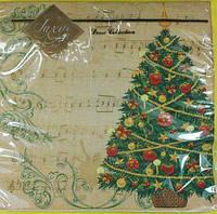 Салфетка для декупажа ЗЗхЗЗ 20шт Музыкальное Рождество (1 пач)