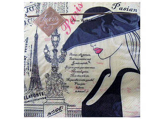 Декоративные столовые салфетки (ЗЗхЗЗ, 20шт) Luxy Парижанка