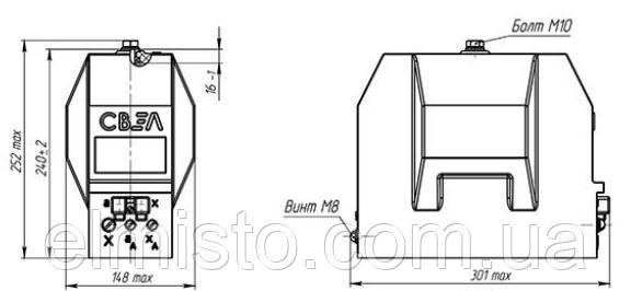 Габаритные и присоединительные размеры измерительных трансформаторов напряженияЗНОЛ-6 УТ2