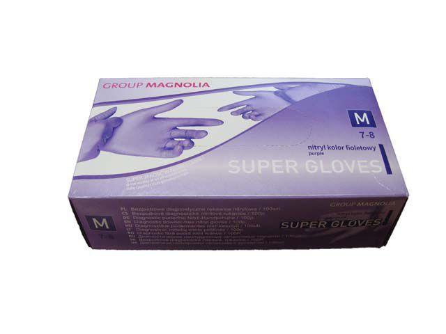 Перчатки нитриловые Фиолетовые  (100шт) L (1 пач)