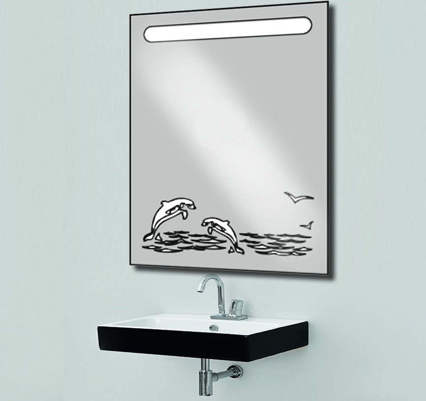 Зеркало с LED подсветкой d-51 600х800
