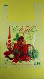 Пакет майка с рисунком 29см 47см Свеча (250 шт)