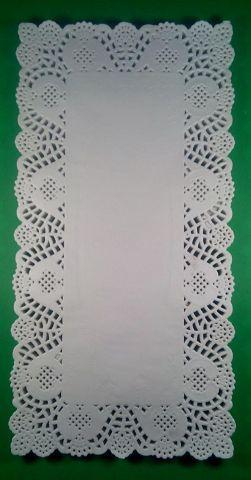 Салфетки бумажные ажурные прямоугольные 17*34см  100шт
