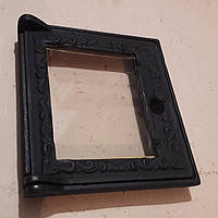 Дверца 270×285 мм Украина чугунная со стеклом Robex