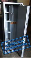Сейф Оружейный Усиленный СО 1000У/3ТП для хранения Трёх Ружей высотой до 980 мм с кассовым отделением и полоч