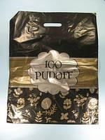 Пакет с вырубной ручкой 40см 50см 100 PUDOFF Леоми (50 шт)