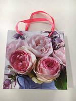 Пакет подарочный бумажный Чашка 16см 16см (12 шт)