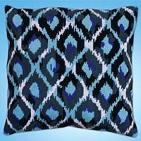 """Набор для вышивания гобеленом """"Blue Ikat//Голубой икат"""" Design Works • dw2562"""