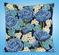 """Набор для вышивания гобеленом """"Blue Roses//Голубые розы"""" Design Works • dw2620"""