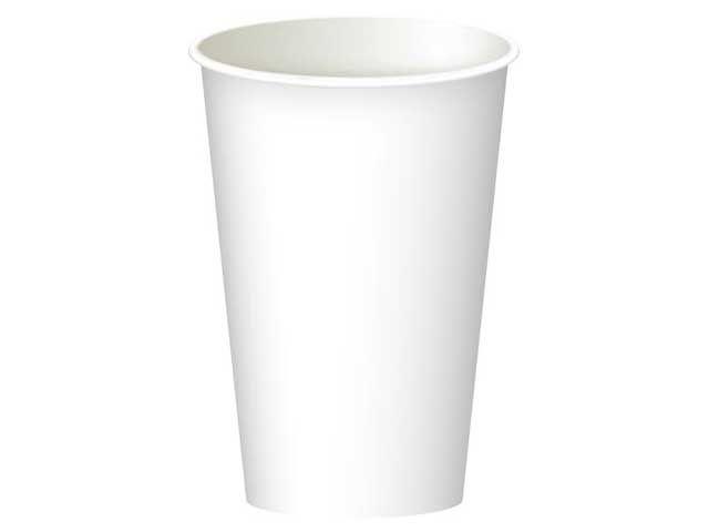 Бумажный стакан 340 мл белый (Маэстро) (50 шт)