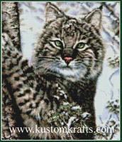 """Набор для вышивания крестом """"Alluring Eyes - Lynx"""" Kustom Krafts • 99787"""