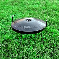 Сковорода бороны с крышкой для пикника, из диска для костра