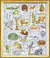 """Набор для вышивания крестом """"Amimal ABC//Алфавит животных"""" Design Works • dw2548"""