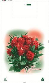 Пакет майка 34см 58см Розы Комсерв (100 шт)